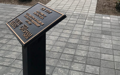Custom-engraved Touchstone Pavers